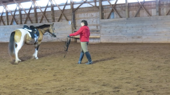 Correct lunging alignment